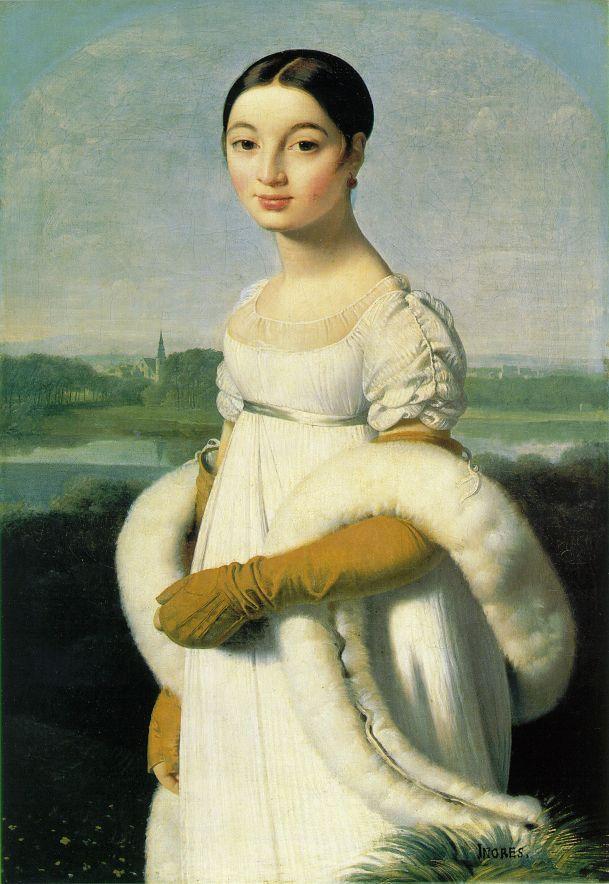 [Ingres+-+Mademoiselle+Caroline+Rivière]