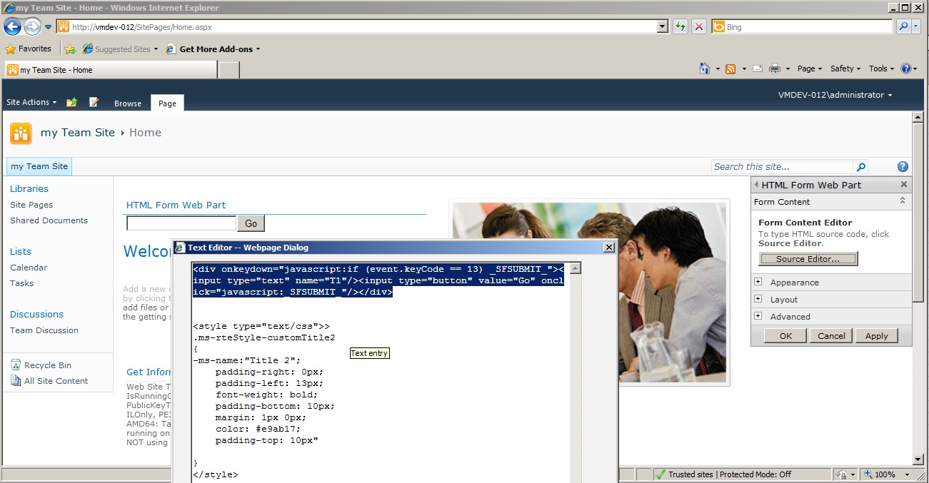 SharePoint 2010 - Customizing and branding the wiki pages for a Team ...
