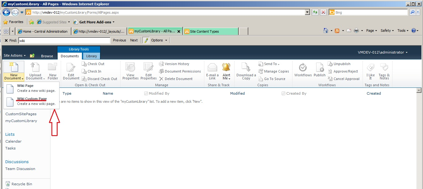 Sharepoint Co Provisioning A Custom Wiki Page Within A Sharepoint
