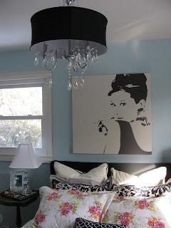 Kelle dame project audrey hepburn inspired guest room for Audrey hepburn bedroom ideas