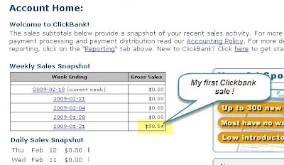 My First Clickbank Sale