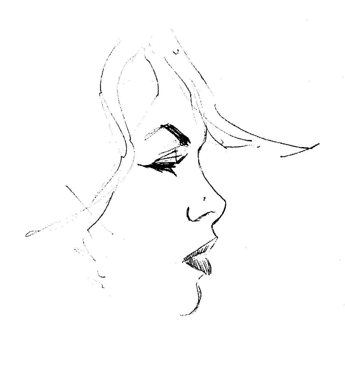 Displaying 20> Images For - Simple Face Sketches...