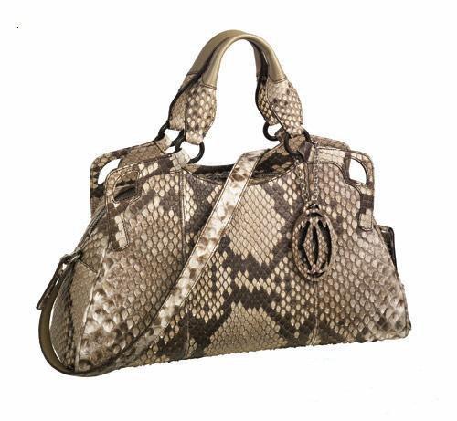 Marcello de Cartier Medium-sized python leather handbags ...
