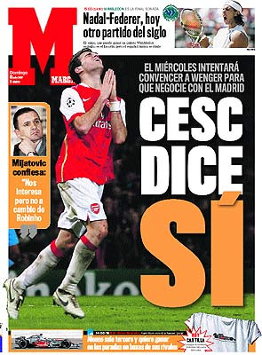 Marca loves Cesc