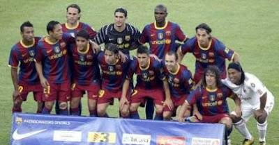 the pre-match FC BARCELONA