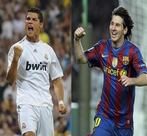 messi and ronaldo. dresses messi and ronaldo