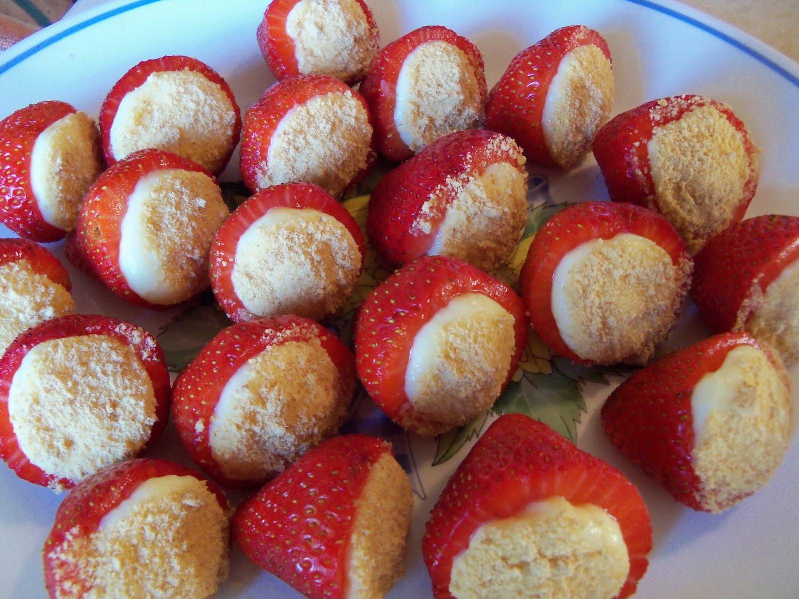 Stuffed Strawberries Recipe — Dishmaps