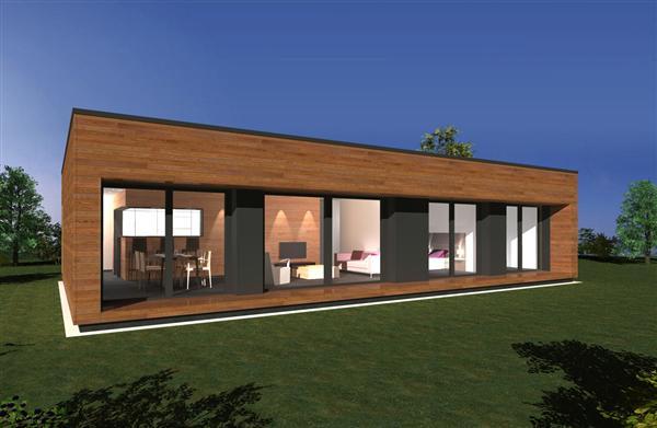 Ville hybride une maison design et basse consommation 100 000 - Maison bois rectangulaire ...