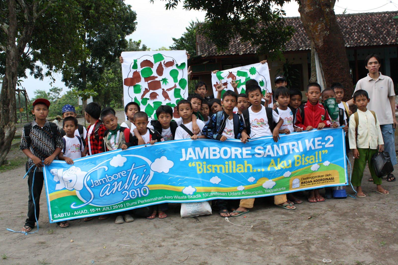 """Antusias dan semangat santri mewarnai dari setiap kegiatan yang ada """" Jambore Santri seru pembina"""