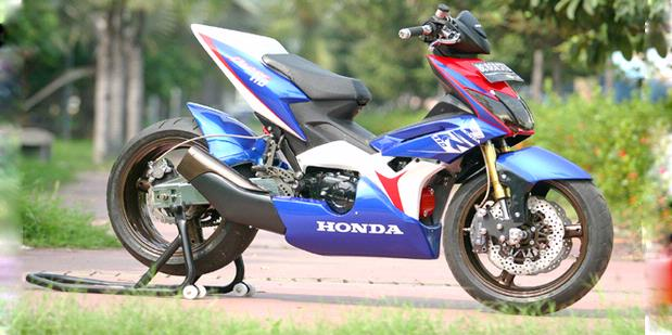 Honda Blade With Hayabusa Modified