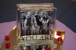 Words and wisdom custom vinyl lettering glass blocks - Glass block decoration ideas ...