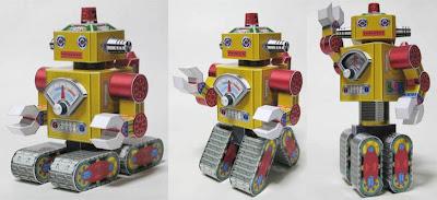 Les jouets en papier Poseable+Toy+Robot+Papercraft
