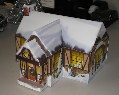 Christmas Cottage Papercraft
