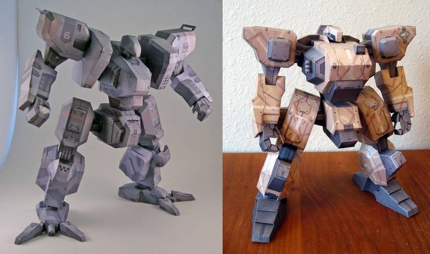 Front Mission 4 Mecha Paper Models