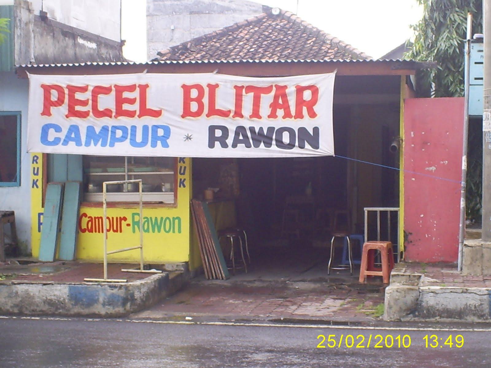 Pecel Blitar Warung Mukmin Sidoarjo