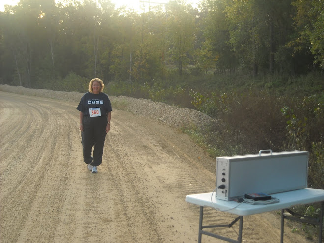 Running a Race with bib.