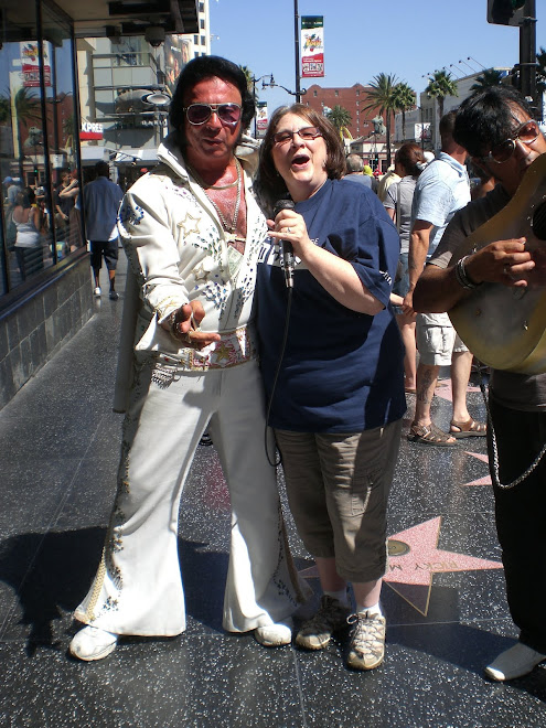 With an Elvis impersonator