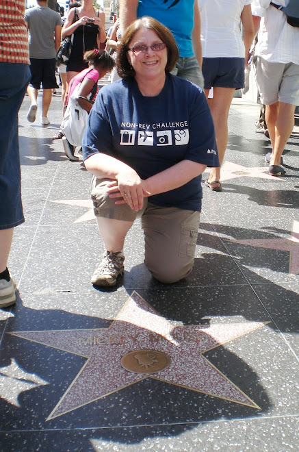 Next to Mickey Mouse's star on Hollywood Blvd