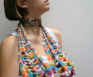 creative crochet scarves city style