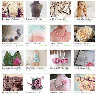 etsy east treasury Paris in bloom