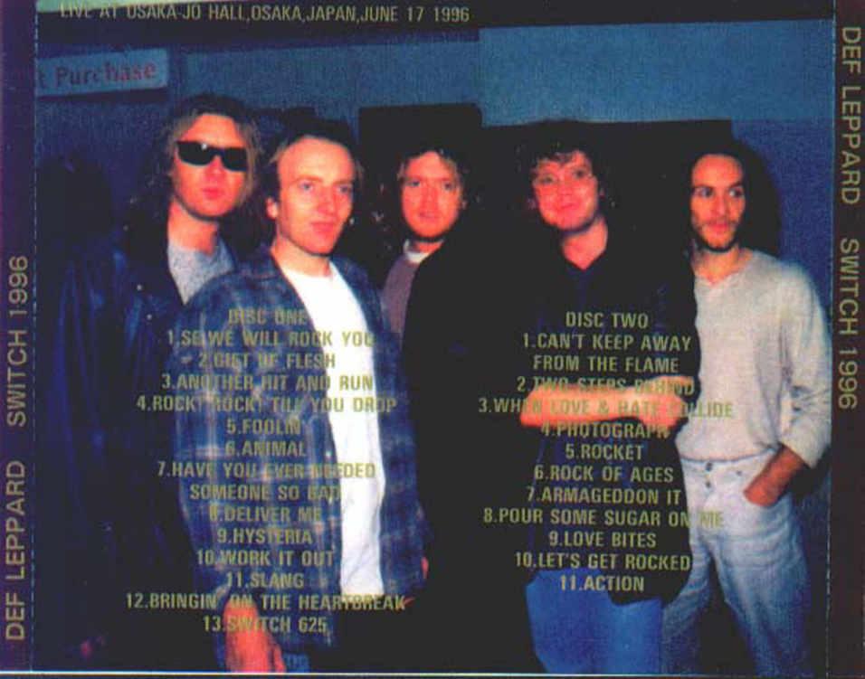 Def Leppard Switch 1996