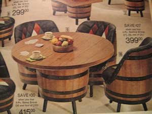 This Barrel Furniture Was In Every JCPenney Furniture Department For Years.  I Had Big Plans For This Furniture. It Would Go In My First Home...in The  Family ...