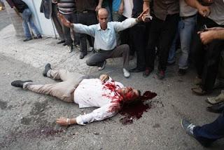 كشتار مردم در راهپيمايي آرام 25 خرداد