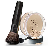 MARY KAY MINERAL POWDER FOUNDATION & BRUSH POWDER