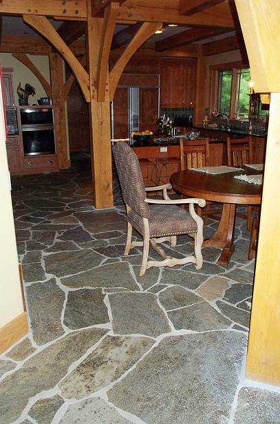Natural Stone Slab Flooring : Slate stone natural important consideration for