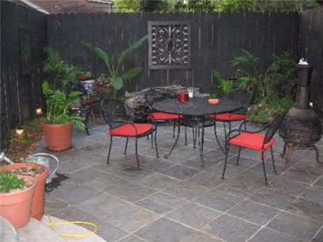 how to build a slate patio