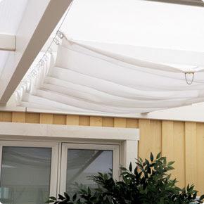 Solskydd över terass