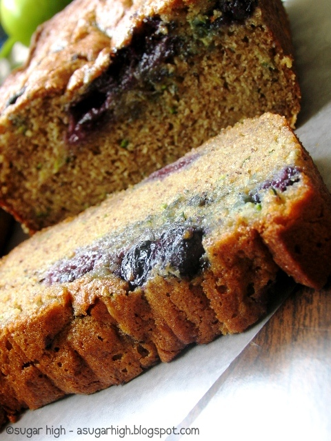 ... of my favorites i saw this very colorful blueberry zucchini bread on