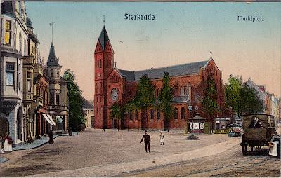 Marktplatz von Oberhausen-Sterkrade aus der Zeit um 1920