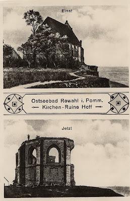 Die Kirchenruine von Hoff (polnisch Trzęsacz) ist seit mehr als hundert Jahren eine Attraktion an der pommerschen Ostseeküste