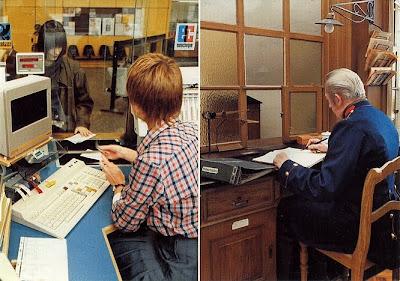 Postamt anno 1900 und anno 1982