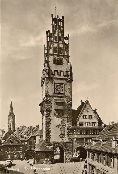 Schwabentor von Freiburg im Breisgau vor 1954