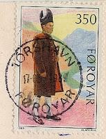Briefmarke Färöer