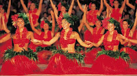 Tahitian Dancers On Costume