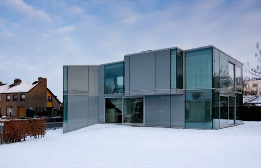The home architecture modern glass residence h house by for Glass house design architecture