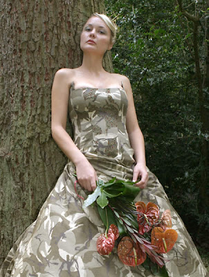 Camouflage Wedding Dress. Lots and lots of camo.