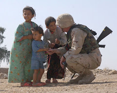 Soldier Befriending Iraqi Children