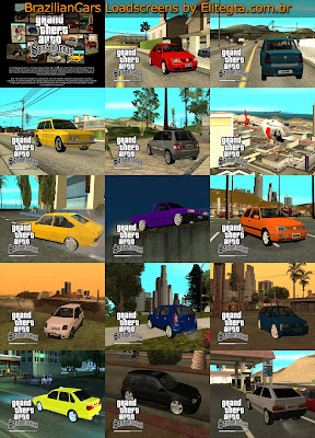BrazilianCars LoadScreens By G3si3l para GTA San Andreas