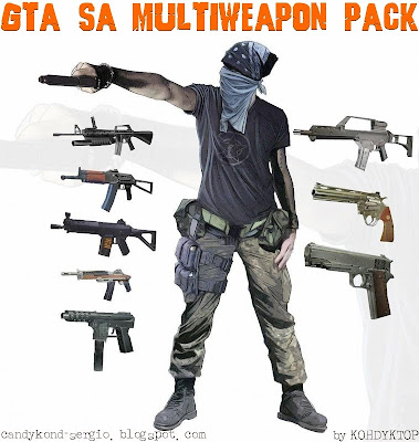 Multi Weapon Pack para GTA San Andreas
