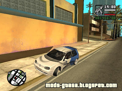 Vw Golf GTI + 4 PaintJobs para GTA San Andreas