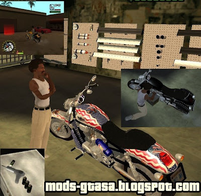 Garage Bike para GTA San Andreas