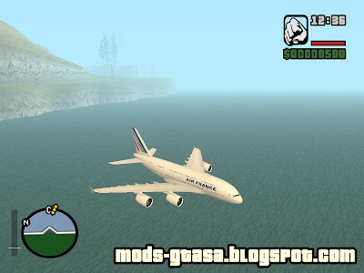 Airbus A380 800 - Air France para GTA San Andreas