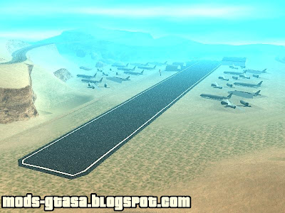 New Verdant Meadows Airstrip para GTA San Andreas