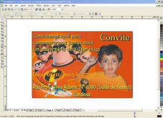 convite Modelos de Convite de Aniversário Infantil para CorelDraw