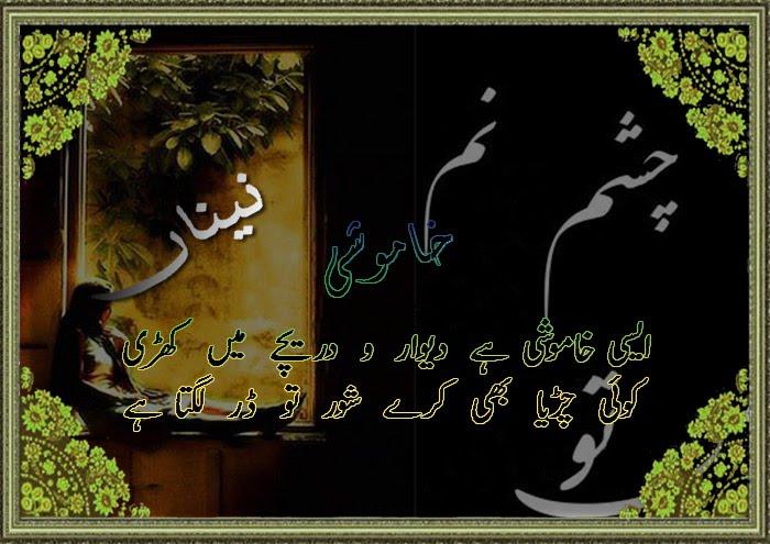 Neeli Chandni-Urdu Poetry: Aisi khamoshi hai