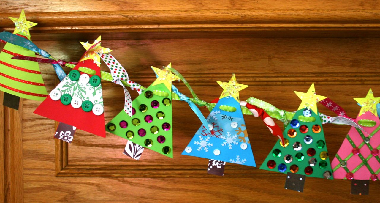 Smart-Bottom Enterprises: Christmas Tree Banner Craft Kit